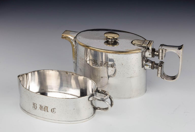 An  Early Twentieth Century  Twin Handled Silver Plated On Nickel Teapot For Sale 2