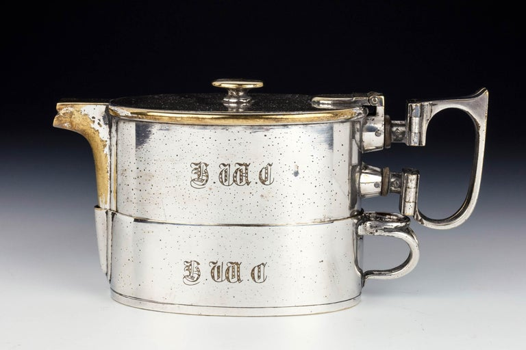 An  Early Twentieth Century  Twin Handled Silver Plated On Nickel Teapot For Sale 3