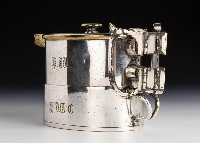An  Early Twentieth Century  Twin Handled Silver Plated On Nickel Teapot For Sale 4