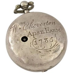 Early Verge English Fusee Pocket Watch Signed Richard Smith, Newport, circa 1730