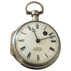 Early Verge Fusee Silver Pocket Watch Signed GRILLIER PERE ET FILS