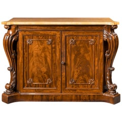 Early Victorian Two-Door Mahogany Side Cabinet Attributed to Gillows