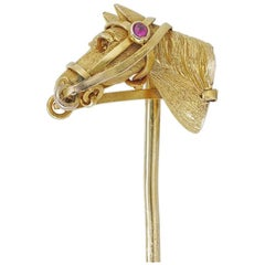 Edwardian Horse-Head Stick-Pin