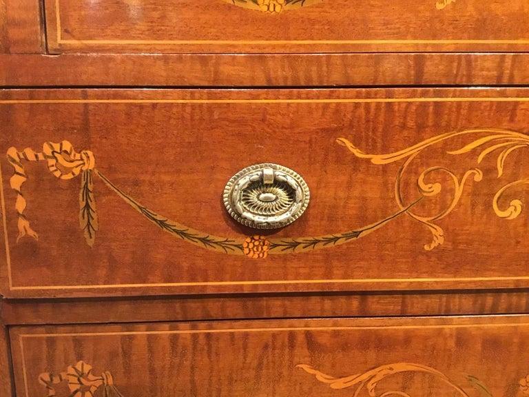 An Edwardian Period Mahogany Inlaid Antique Bureau For Sale 2