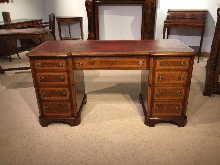 An Edwardian Period Mahogany Inlaid Antique Bureau For Sale 4