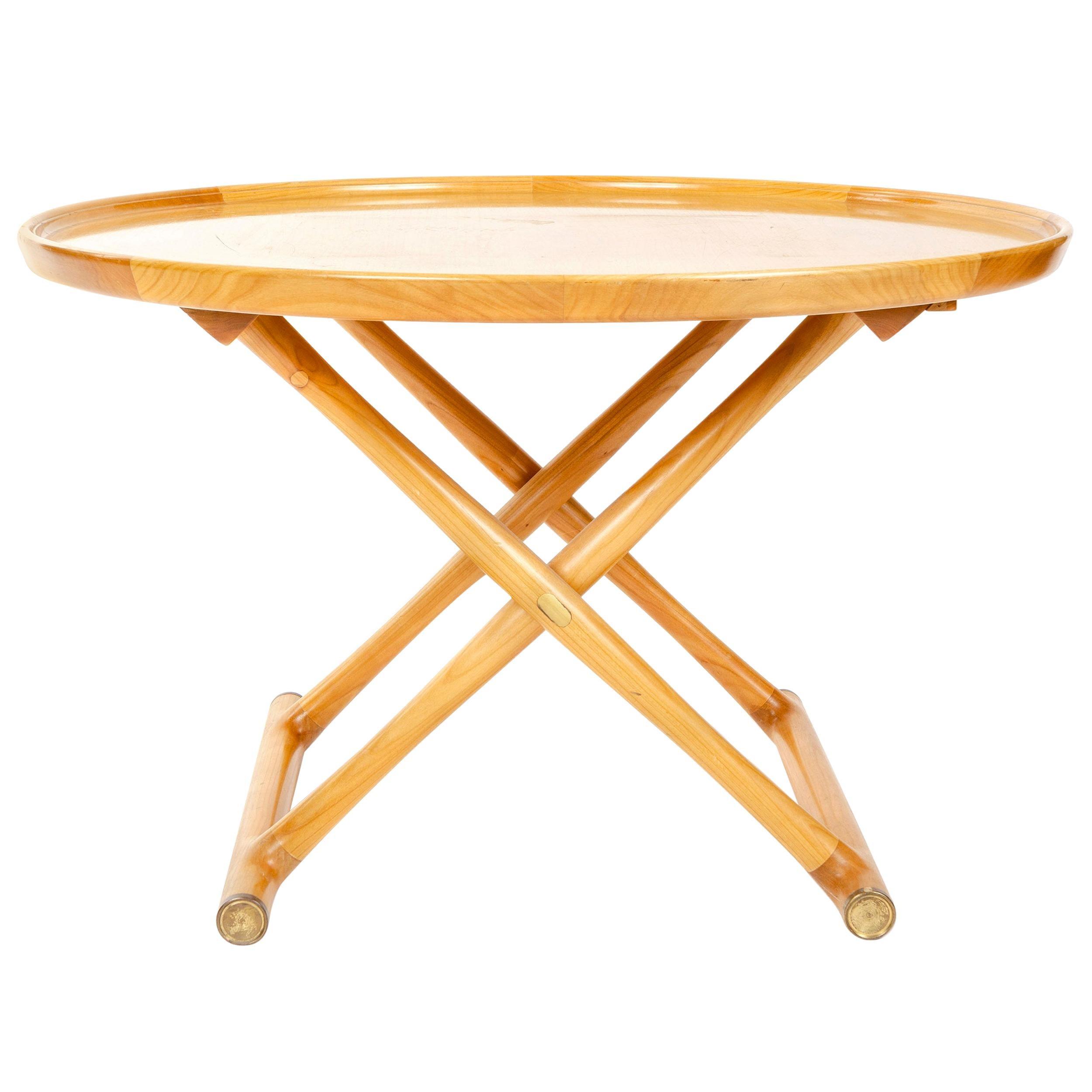 """1950s Danish 'Egyptian"""" Folding Side Table by Mogens Lassen"""