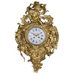 Elaborate Louis XV Style Gilt-Bronze Cartel Clock, circa 1890