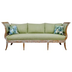 Elegant 18th Century Gustavian Dry Scraped Sofa Lindome, circa 1790