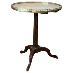 Elegant Directoire Gueridon with Marble Top