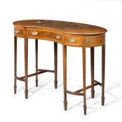 An Elegant Early 20th Century Ladies Kidney Shaped Writing Desk