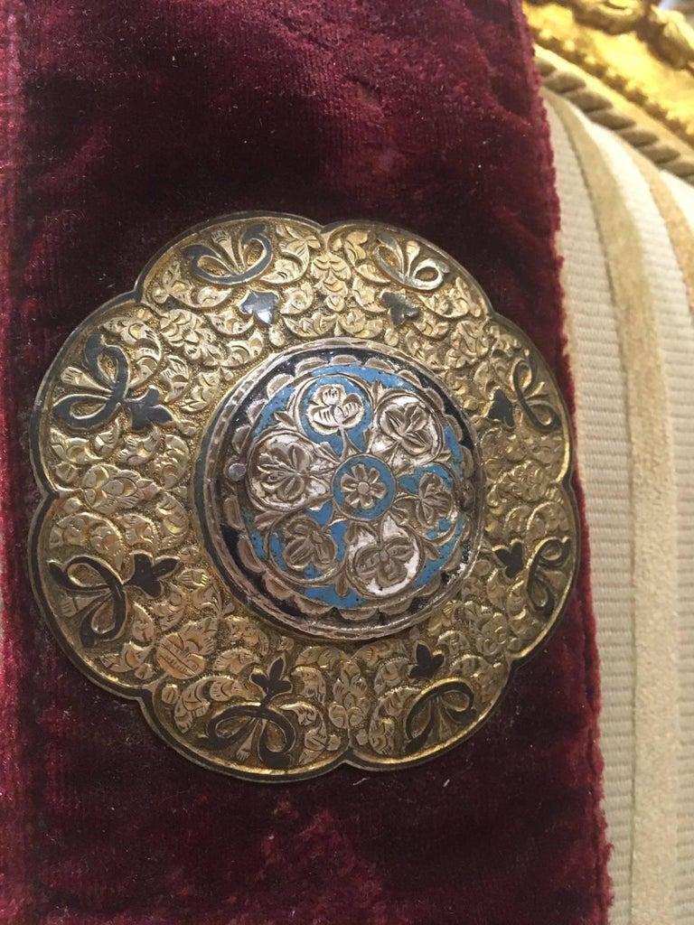 Other Elegant Ottoman Royalty Enamel Belt, Turkish, 19th Century For Sale