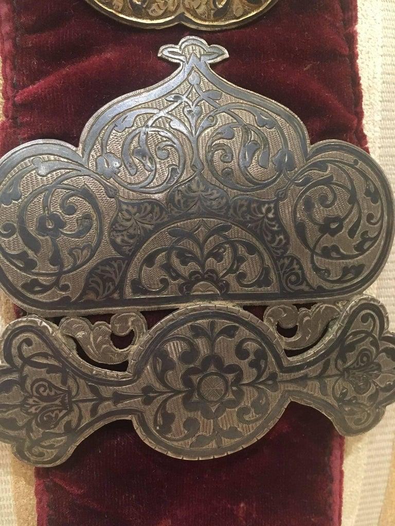 Enameled Elegant Ottoman Royalty Enamel Belt, Turkish, 19th Century For Sale
