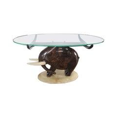 An Elephant Cocktail Table by Aldo Tura