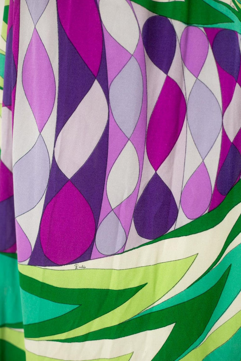 An Emilio Pucci Printed Silk Jersey Dress - Italy Circa 1970 For Sale 7
