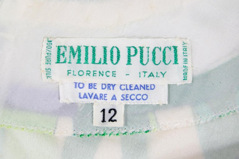 Gray An Emilio Pucci Printed Silk Jersey Dress - Italy Circa 1970 For Sale