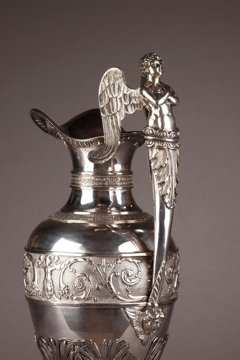 Empire Silver Ewer with its Bowl by Edme Gelez For Sale 5