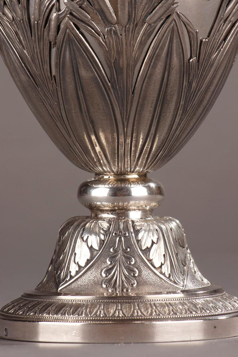 Empire Silver Ewer with its Bowl by Edme Gelez For Sale 8
