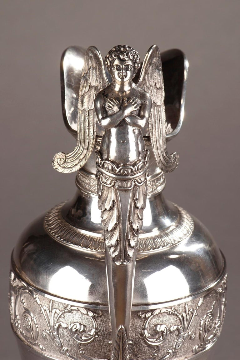 Empire Silver Ewer with its Bowl by Edme Gelez For Sale 9