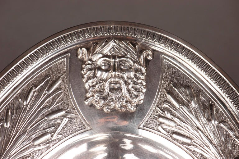 Empire Silver Ewer with its Bowl by Edme Gelez For Sale 10