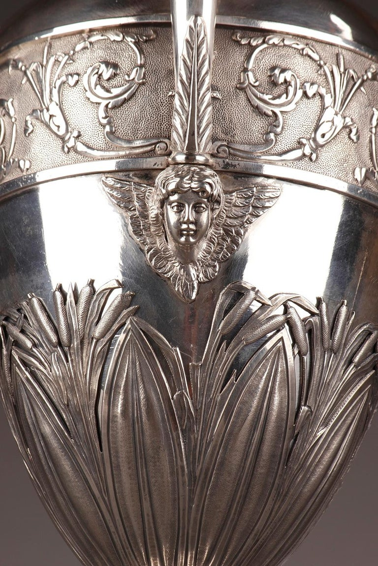Empire Silver Ewer with its Bowl by Edme Gelez For Sale 12