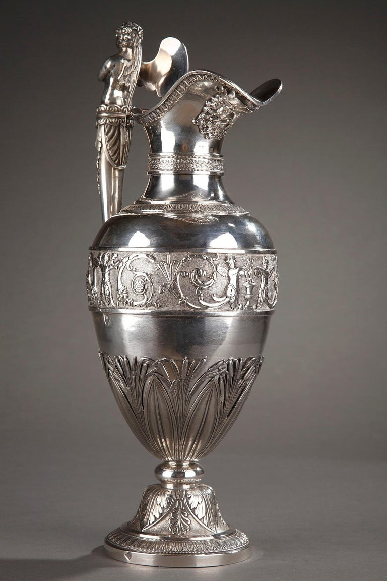 Empire Silver Ewer with its Bowl by Edme Gelez For Sale 13