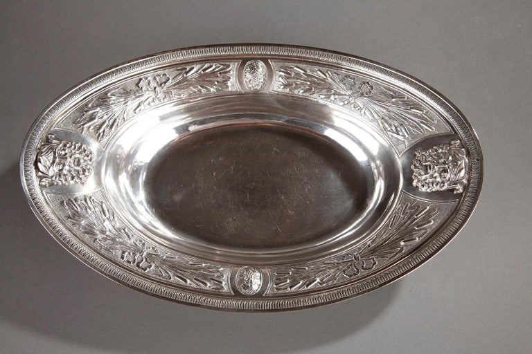 French Empire Silver Ewer with its Bowl by Edme Gelez For Sale