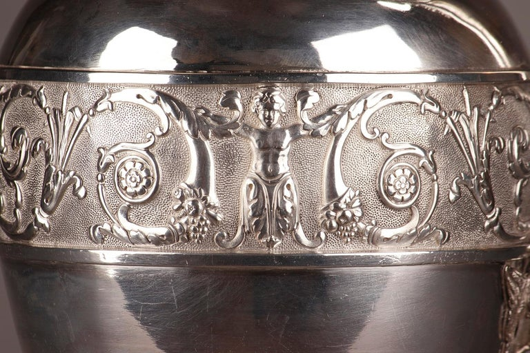 Empire Silver Ewer with its Bowl by Edme Gelez For Sale 1