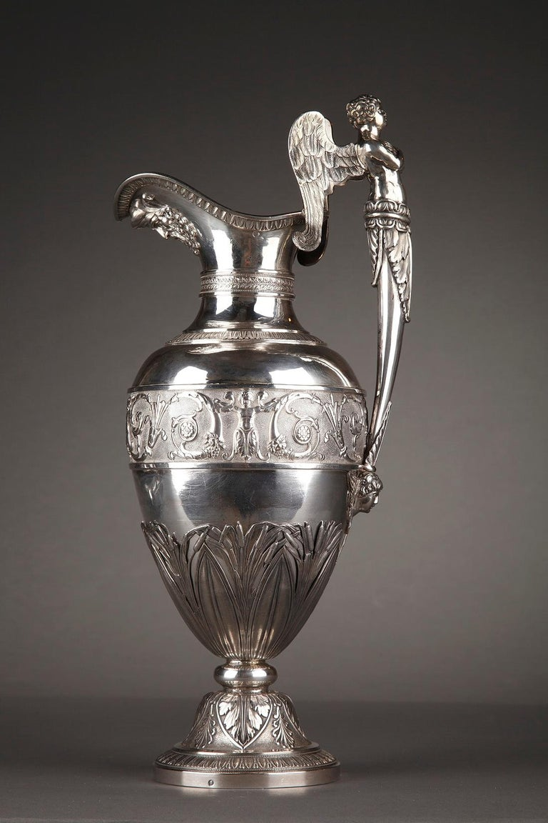 Empire Silver Ewer with its Bowl by Edme Gelez For Sale 3