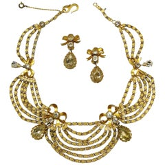 An 'Empire' style necklace and earrings, Christian Dior by Michel Maer, 1950s