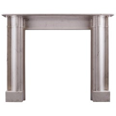 English Architectural Statuary Marble Fireplace
