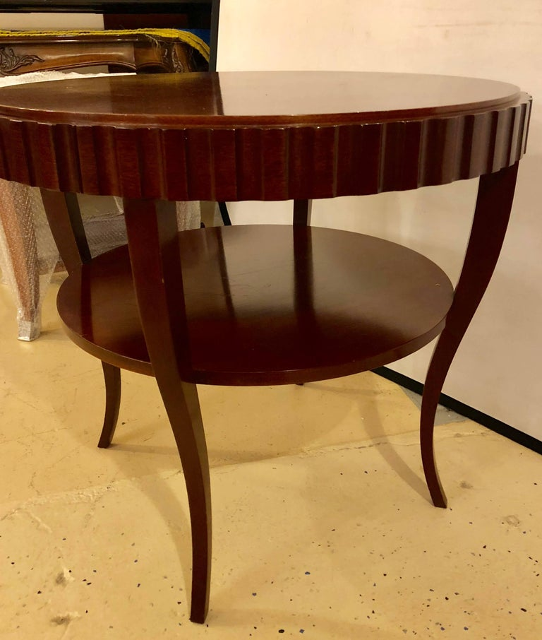English Art Deco Style Wood Single Drawer Centre or End Table In Good Condition For Sale In Stamford, CT