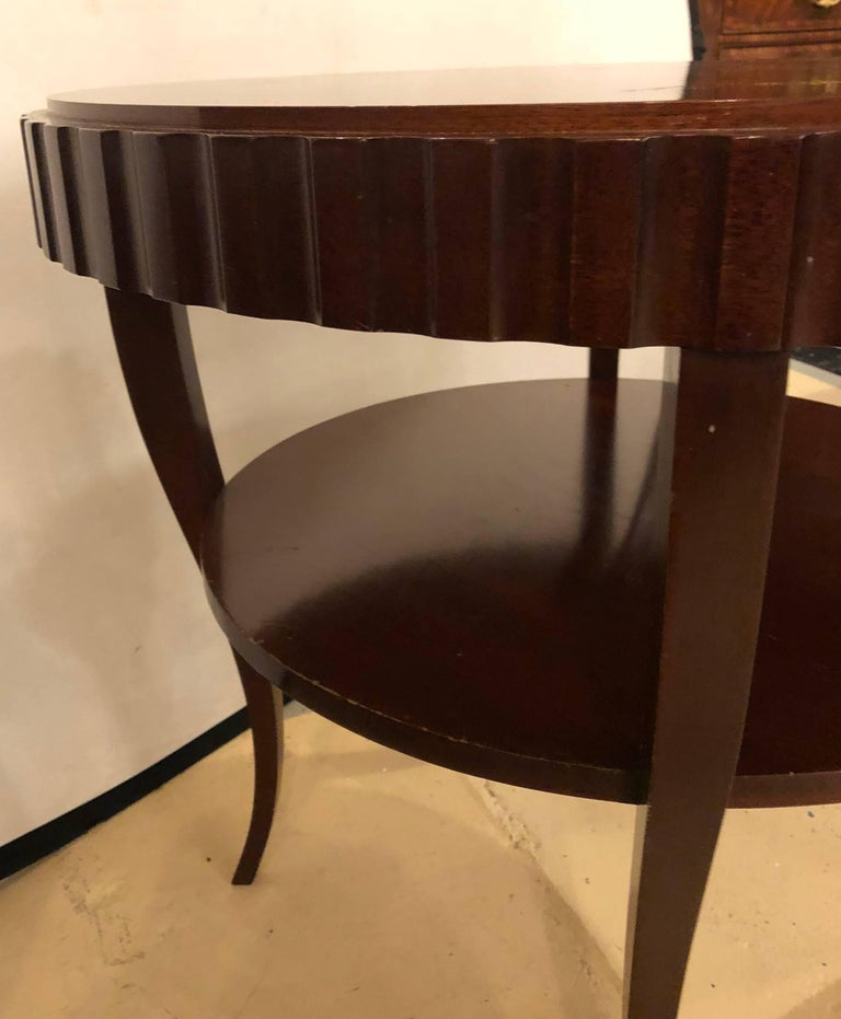 English Art Deco Style Wood Single Drawer Centre or End Table For Sale 3