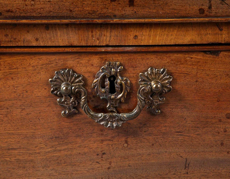 English George II Brown Mahogany Partners Desk In Good Condition For Sale In Dublin, GB