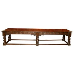 An English Oak Joined Table