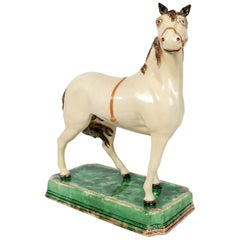 A Large English Pottery Racing Horse Made Circa 1890-1900