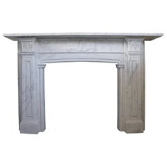 English Regency Antique Marble Fireplace Mantel