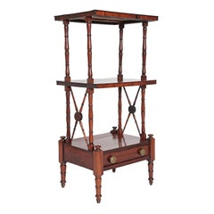 An English Regency Rosewood 3-Tiered Whatnot