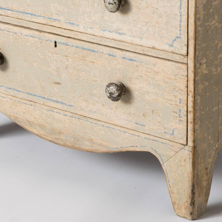 19th Century English Three-Drawer Painted Chest, circa 1880 For Sale