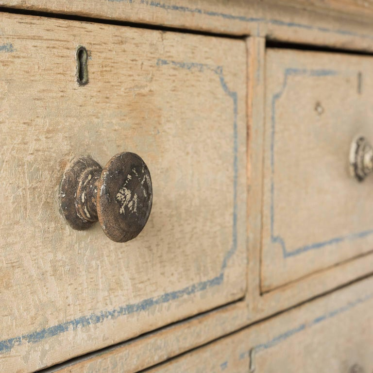 English Three-Drawer Painted Chest, circa 1880 For Sale 3