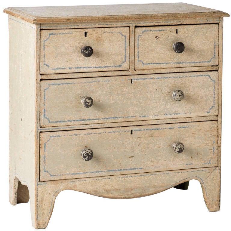 English Three-Drawer Painted Chest, circa 1880