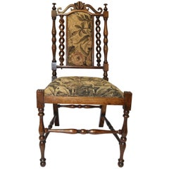 English William IV Carved Rosewood and Upholstered Child's Chair