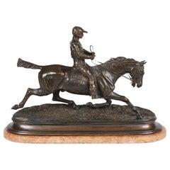 Equestrian Bronze Sculpture after Pierre-Jules Mêne
