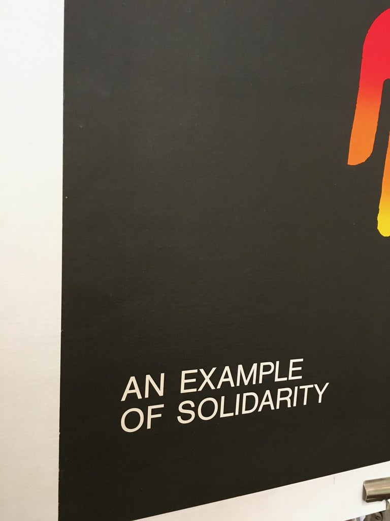 International Style 'An Example of Solidarity - Council of Europe' Original Vintage Poster by Piatti For Sale