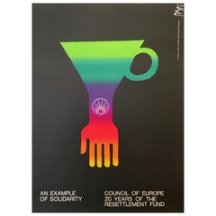 'An Example of Solidarity - Council of Europe' Original Vintage Poster by Piatti