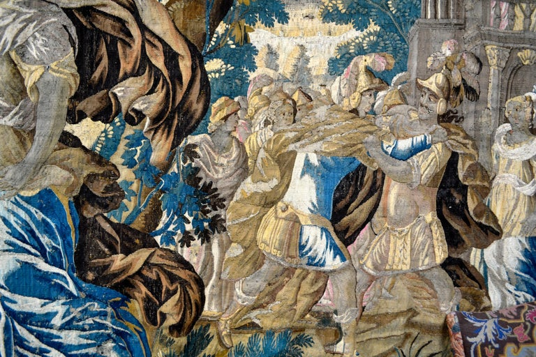 Exceptional 17th Century Flemish Verdure and Mythological Tapestry For Sale 2
