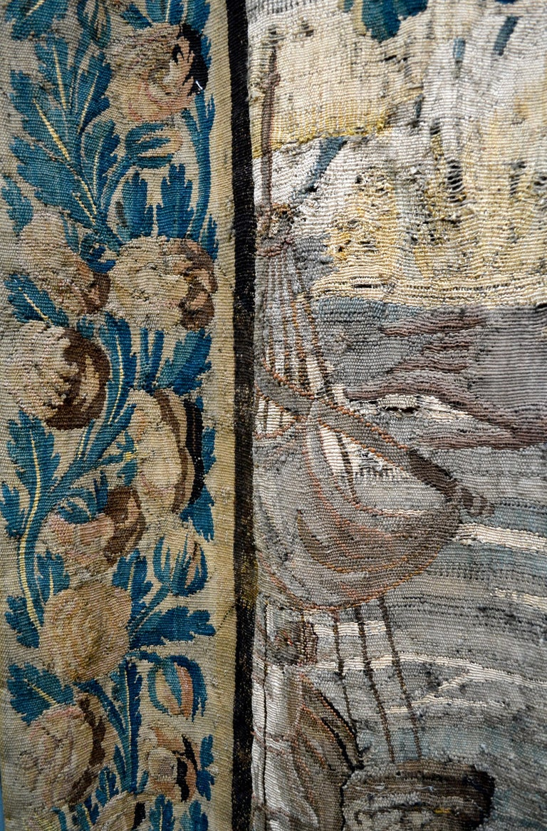 Exceptional 17th Century Flemish Verdure and Mythological Tapestry For Sale 4