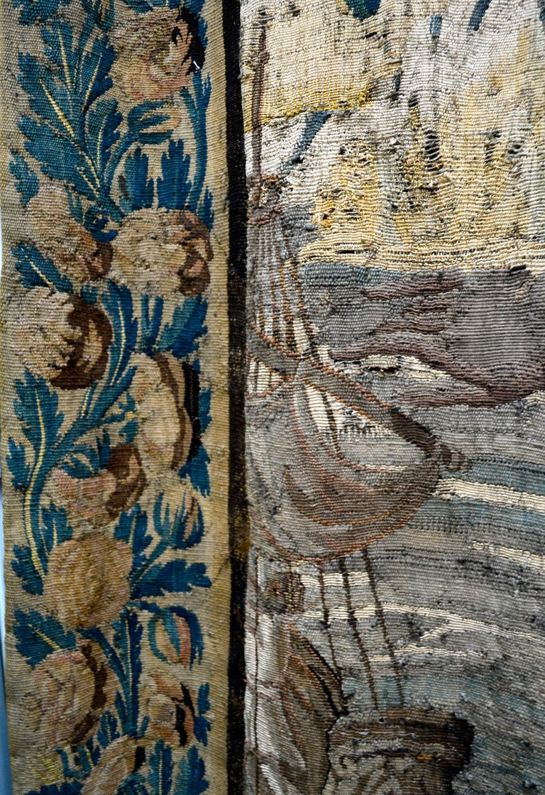 Exceptional 17th Century Flemish Verdure and Mythological Tapestry For Sale 5