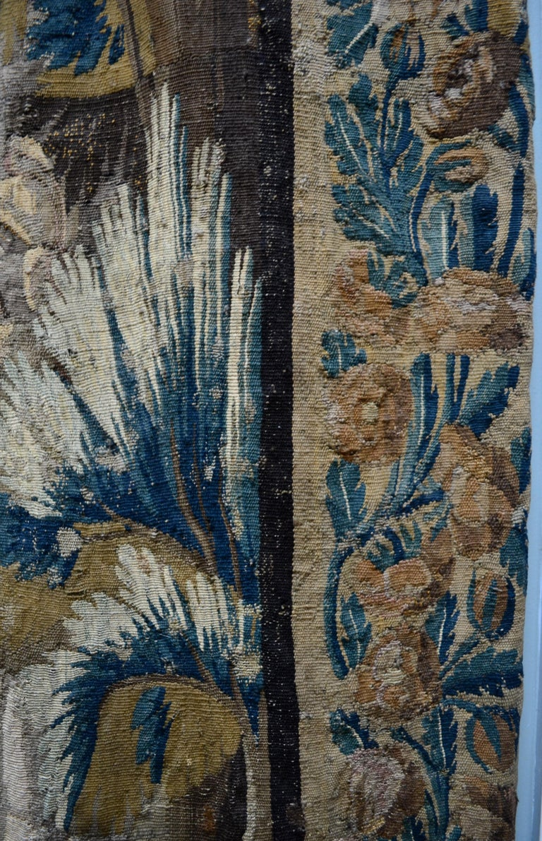 Exceptional 17th Century Flemish Verdure and Mythological Tapestry For Sale 6