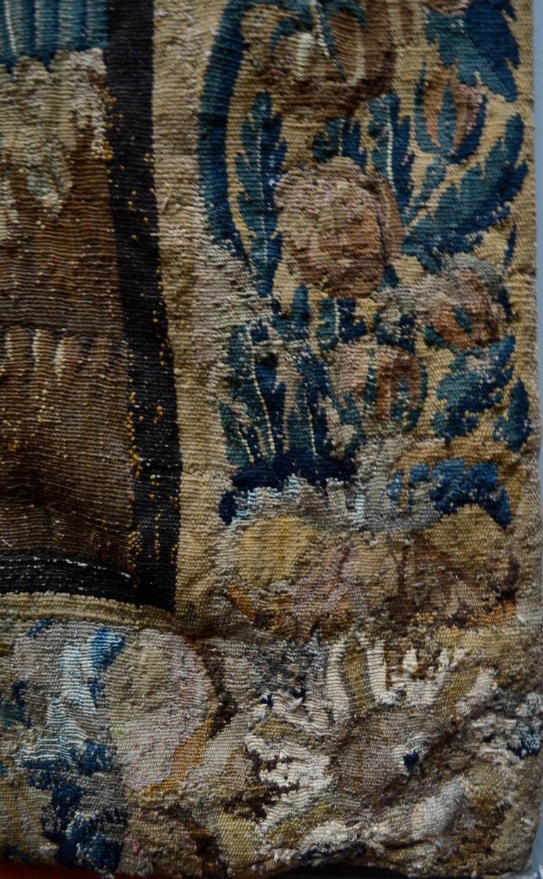 Exceptional 17th Century Flemish Verdure and Mythological Tapestry For Sale 7