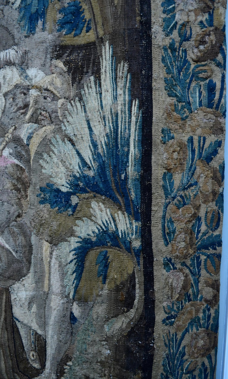 Exceptional 17th Century Flemish Verdure and Mythological Tapestry For Sale 8